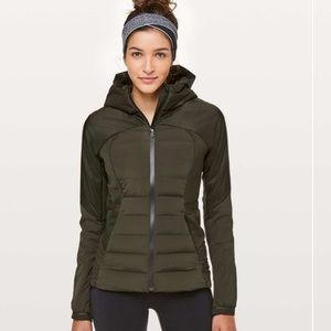 Lululemon Down For It All Jacket in Dark Olive New